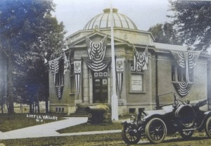 The Memorial Building Decorated for Dedication Ceremonies in 1914